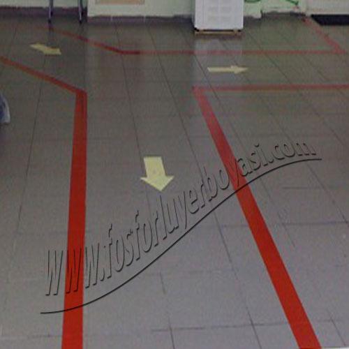 yer boyası fosforlu oklar exıt çıkış kapıları