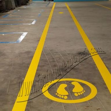 beton zemin yerboyas yaya fabrika içine uygulama görsellerimiz