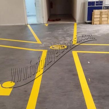 işletme içi stok düzenleme için yer çizgileri kullanılır