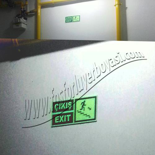 fosforlu yer boyası com merdiven iniş çıkış okları