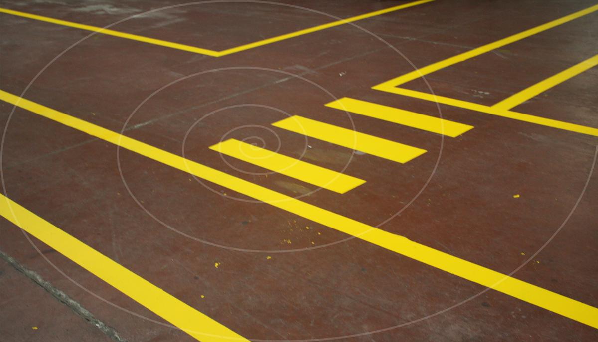 fosforlu yer boyası sarı kaçış yolu
