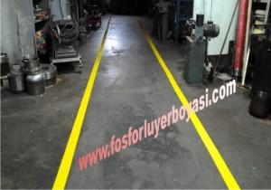fabrika içi forklift yolları yer çizgi boyaları zamanla silinebilir