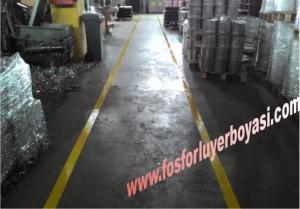 fabrika içi forklift yolu resmi