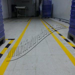 yer boyası makina alanları çizgi çalışmaları standart ölçüleri