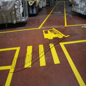 fosforlu yer boyası sarı yol boyası forklift yaya yolu