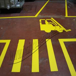 yer boyası sarı yol çizgisi uygulamaları