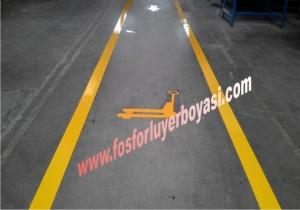 transpalet yolları yer çizgileri boya uygulamaları