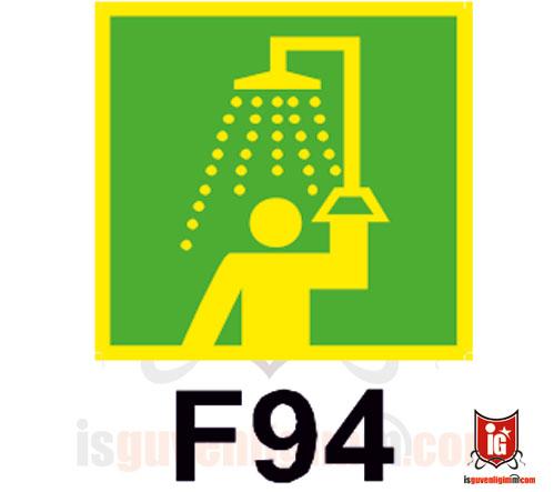 fosforlu duş işareti