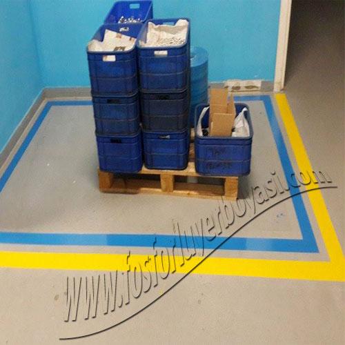 yer boyası mavi çift renkli stok alanı boyası