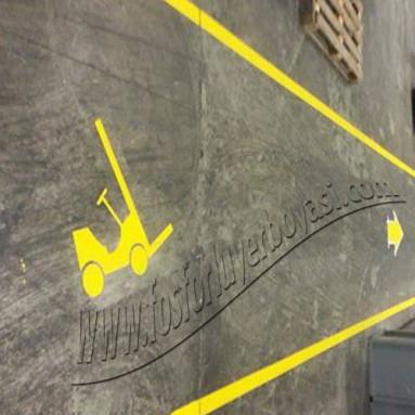 forklift işareti ve yaya yolları şablonu nasıl yapılır