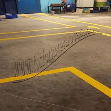 yerboyası forklift yaya makine alanları zemin boyamaları fabrika içi çizgiler