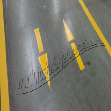 yer boyası forklift yolu ok uygulaması