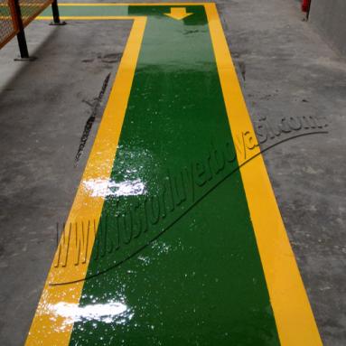 sarı yeşil dolgulu yaya yolu