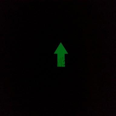 karanlıkta ışık veren fosforlu ok
