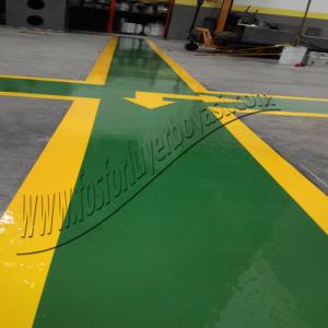 fosforlu yer boyası dolgulu yol  yeşil