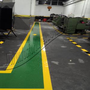 yer boyası fabrika yolu çizgileri uygulama örnekleri
