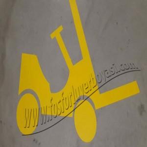 yer boyası forklift yolları sarı