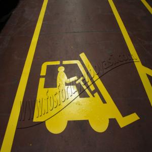 yer boyası sarı yol boyası çizgileri