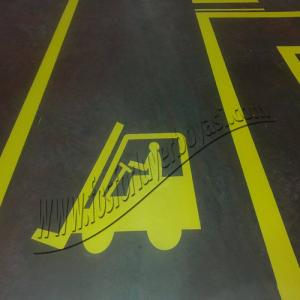 yer boyası çizgi sarı yol boyası forklift işareti